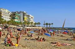 Llevant Beach, in Salou, Spain Stock Photography