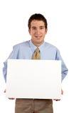 Llevar a cabo el cartel en blanco foto de archivo