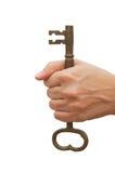 Llevar a cabo el clave Imágenes de archivo libres de regalías