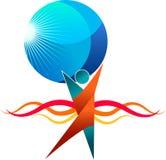 Llevar a cabo el logotipo global libre illustration