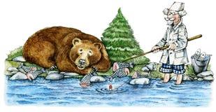 Llevar-pescador libre illustration