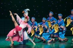 Lleve a cabo la danza popular para arriba-Tórtola-china fotografía de archivo libre de regalías