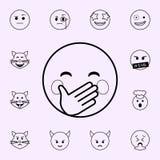 lleve a cabo un icono de la risa Sistema universal de los iconos de Emoji para la web y el m?vil libre illustration