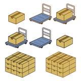 Lleve el carro y el equipaje libre illustration