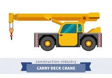 Lleve la grúa industrial de la cubierta stock de ilustración