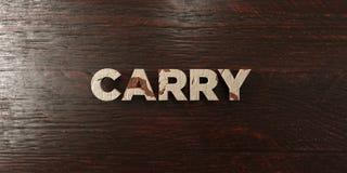 Lleve - título de madera sucio en arce - la imagen común libre rendida 3D de los derechos stock de ilustración