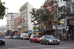 The Llewelyn Building at 5th Ave in San Diego�s Gaslamp Quarter Stock Photos