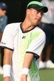 Lleyton Hewitt: De professionele tennisspeler dient Royalty-vrije Stock Afbeeldingen