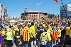Llibertat Presos政治抗议游行,巴塞罗那 免版税图库摄影