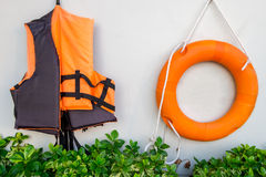 Llife jacket ,life buoy Royalty Free Stock Photography
