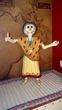 Llife size female skeleton decoration in the day of the dead celebration Royalty Free Stock Photos