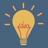 Llight-ampoule, vecteur, icône plate Image stock
