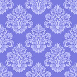 Llight blue seamless damask Wallpaper. Stock Photos