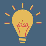 Llight-bol, vector, vlak pictogram Stock Afbeelding