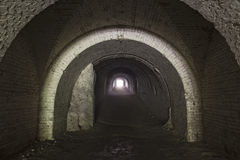 Llight in the end of a tunnel Stock Images