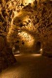 Llighted grotta Arkivfoto