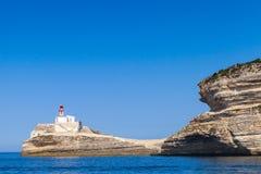 Llighthouse. Bonifacio, Corsica island, France Stock Photos