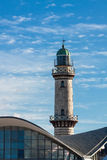 Llighthouse in Warnemuende Stock Photography