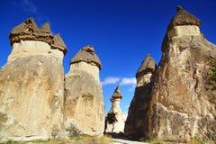 Llimestones em Cappadocia, Turquia Fotografia de Stock