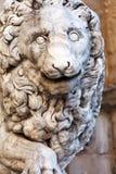 Llion near Palazzo Vecchio Royalty Free Stock Image