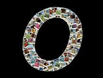 Llitera della O - collage delle foto di corsa Fotografia Stock