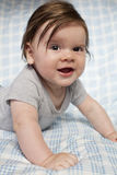Llittle boy with long hair and big smile. Royalty Free Stock Photos