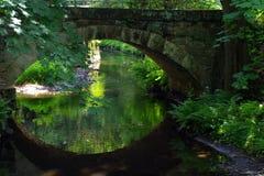 LLittle bridge. Landscape in National Park Czech Switzerland, Czech republic, Europe royalty free stock photos