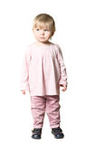 Llittle child in pink clothes Royalty Free Stock Image