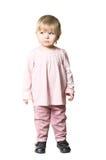Llittle Kind in der rosafarbenen Kleidung Lizenzfreies Stockbild
