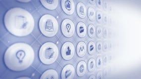 Llll de graphismes Fond d'affaires globales Diverse collection d'icônes pour des affaires Animation de boucle de CG. illustration de vecteur