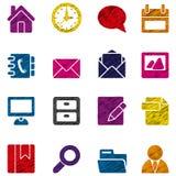Llll de los iconos Imagen de archivo libre de regalías