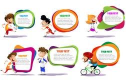 Lllustration dzieciaki angażuje w różnych sport aktywność royalty ilustracja