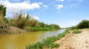 Llobregat River in the Delta del Llobregat Stock Images
