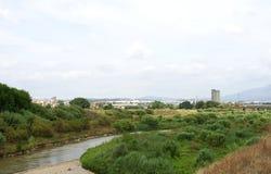 Llobregat river passing through Martorell Royalty Free Stock Photography