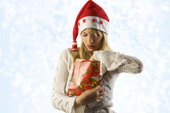 Lloking for christmas gift Royalty Free Stock Photos