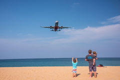 Llooking the plane. Stock Photography