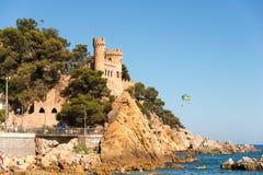 Lloret de Mar κάστρο Στοκ φωτογραφία με δικαίωμα ελεύθερης χρήσης