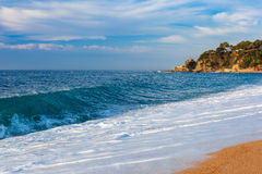 Lloret de mar на Косте Brava, Catalunya, Испании стоковое изображение
