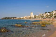 Lloret De Mar. Beach at Lloret de Mar. Catalonia, Spain Stock Photos