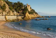 Lloret de Mar beach Royalty Free Stock Image