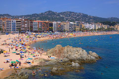 Lloret de mar beach ,costa brava Stock Photography