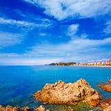 Lloret de Mar beach of Costa Brava Catalonia Stock Photo
