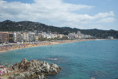 Lloret de Mar beach, Spain Stock Photos