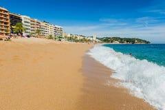 Lloret de Mar beach Royalty Free Stock Photos