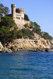 Lloret de Mar Castell Plaja alla spiaggia in Catalogna Spagna nel giorno soleggiato Immagine Stock Libera da Diritti