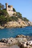 Lloret de Mar Castell Plaja alla spiaggia in Catalogna Spagna in sunnyday Immagine Stock
