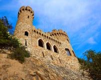Lloret de Mar Castell Plaja at Sa Caleta Costa Brava Royalty Free Stock Images