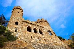Lloret de Mar Castell Plaja at Sa Caleta Costa Brava Stock Images