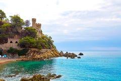 Lloret de Mar Castell Plaja an Strand Sa Caleta Lizenzfreies Stockfoto