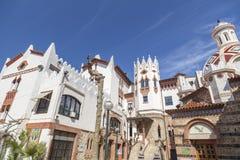 Lloret de Mar,Catalonia,Spain. Architecture, religious building, modernist style, church, rectory, by Bonaventura Conill in Lloret de Mar, Costa Brava, province stock photo
